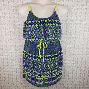 City Triangle L Multi Color Print Tank Mini Dress